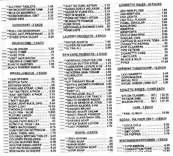 menu - part 3