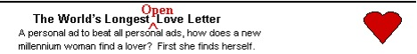 The World's Longest Open Love Letter